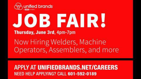 Unified Brands to Host Job Fair June 3rd, 2021